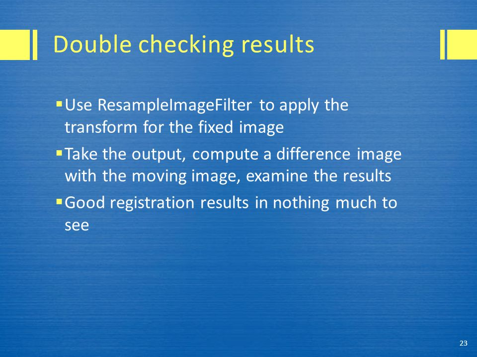 Double checking results