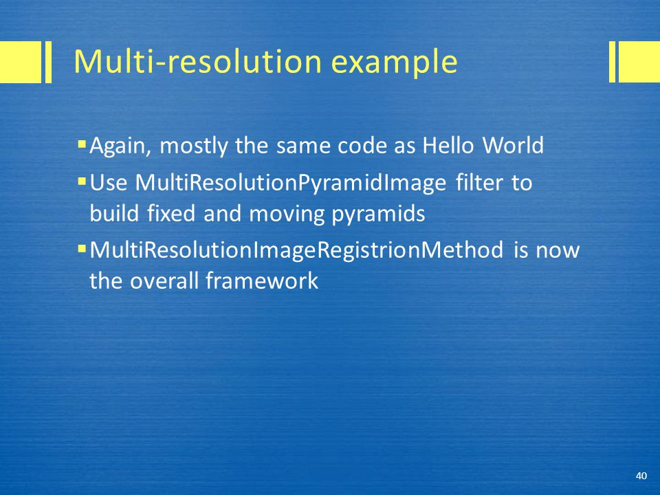 Multi-resolution example
