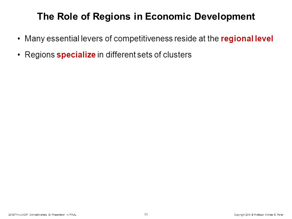 The Role of Regions in Economic Development