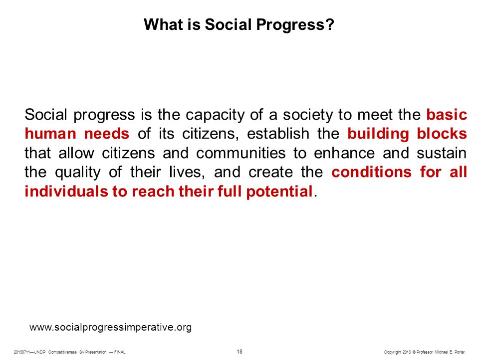 What is Social Progress