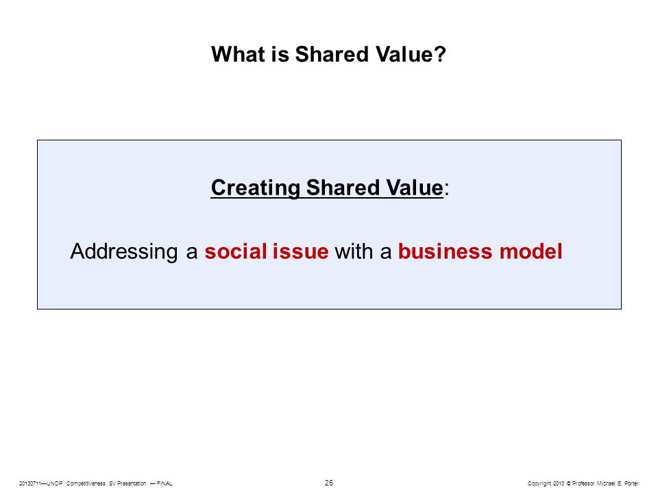 Creating Shared Value:
