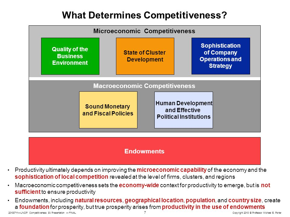 What Determines Competitiveness