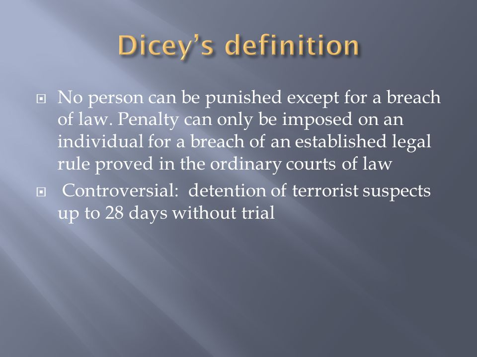 Dicey's definition