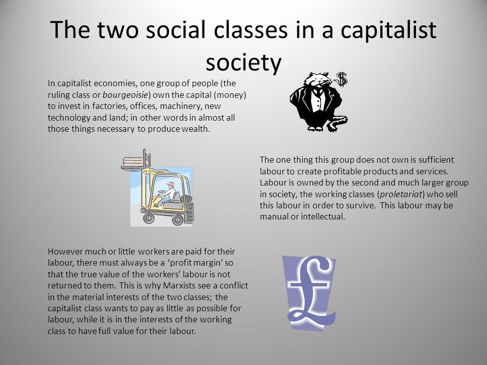 The two social classes in a capitalist society