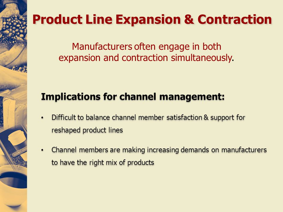 Product Line Expansion & Contraction