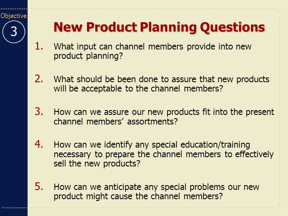 New Product Planning Questions