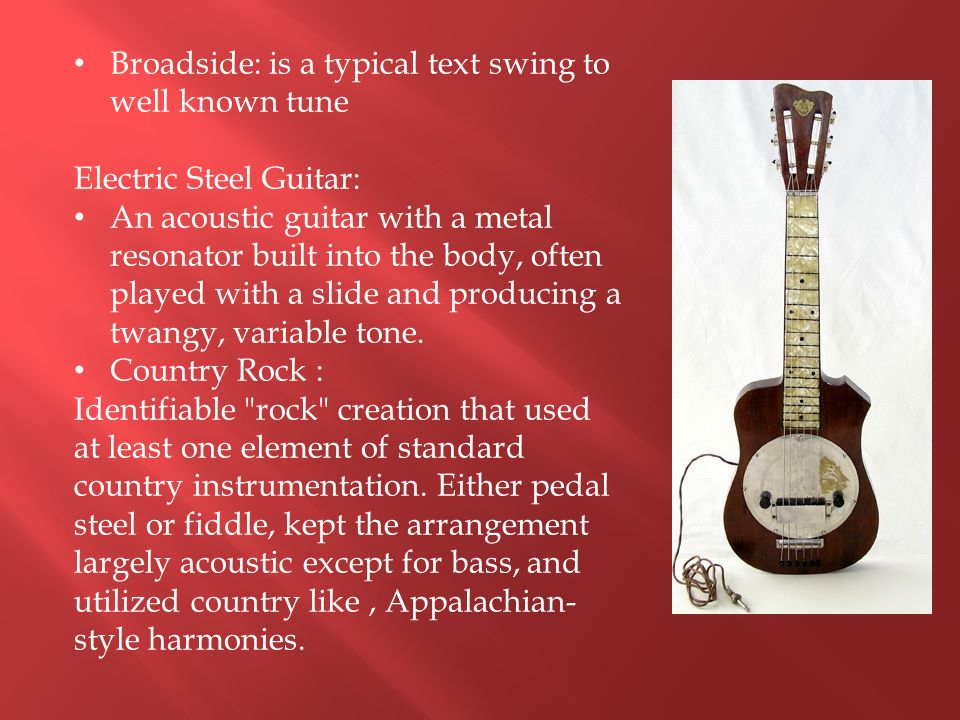 Broadside: is a typical text swing to well known tune