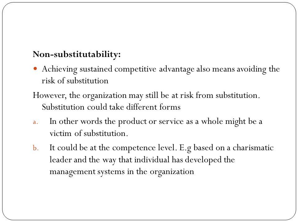 Non-substitutability: