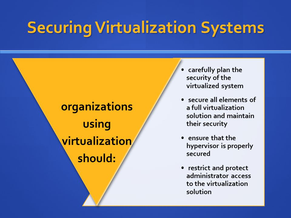 Securing Virtualization Systems