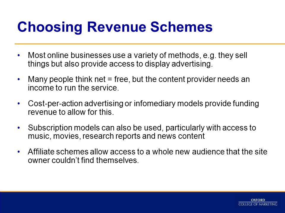 Choosing Revenue Schemes
