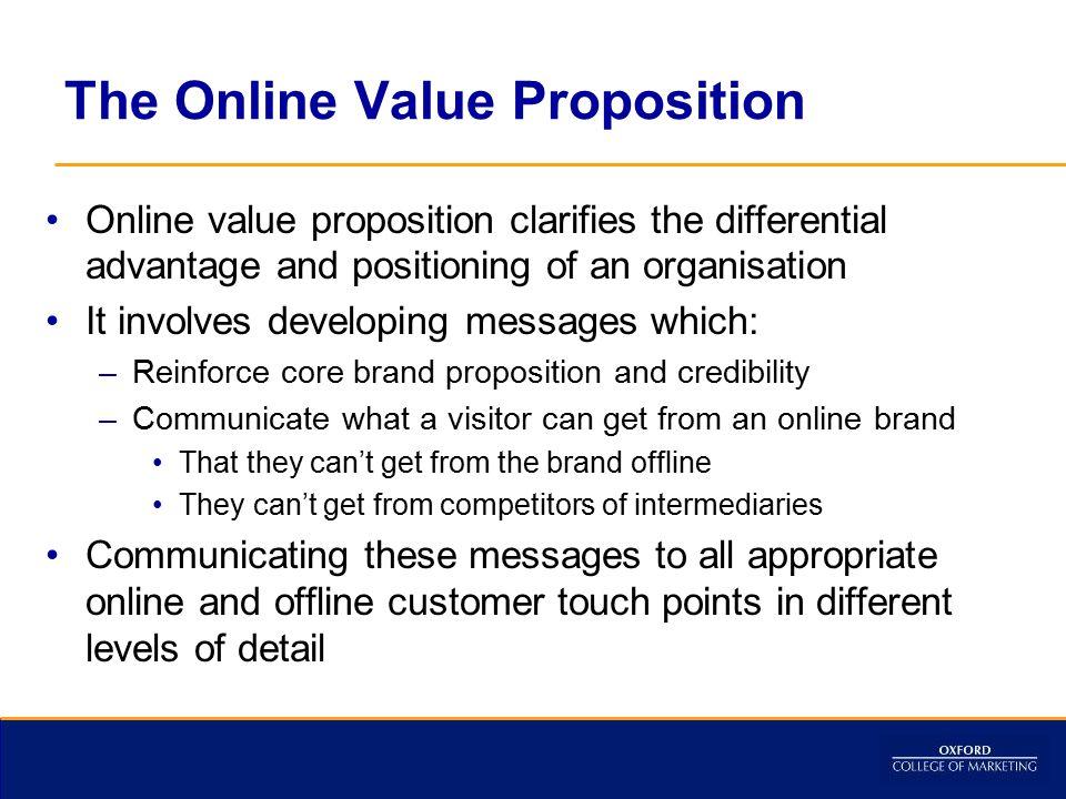 The Online Value Proposition