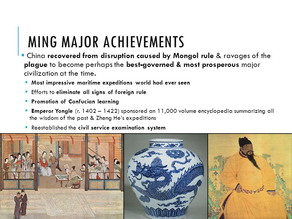 Ming Major Achievements