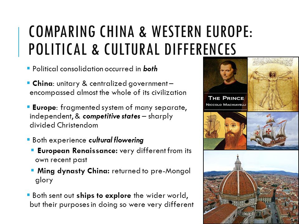 Comparing China & Western Europe: Political & Cultural Differences