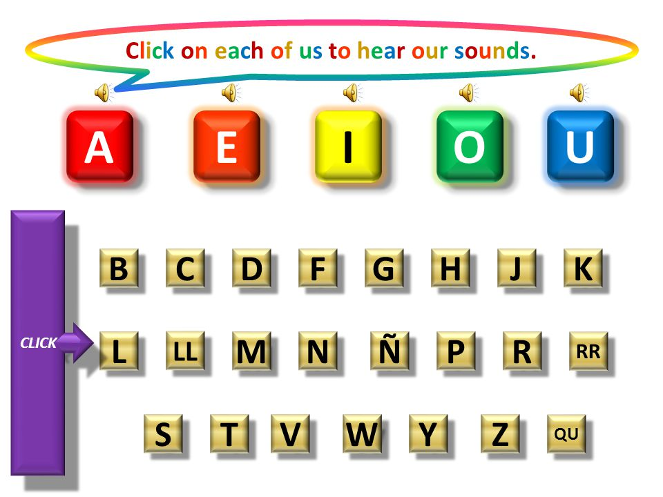 Click on each of us to hear our sounds.