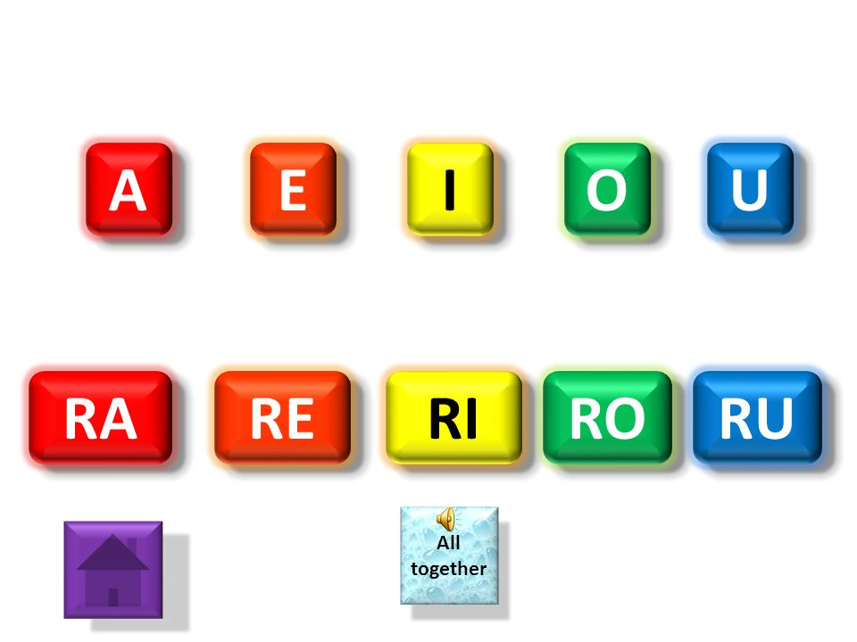 A E I O U RA RE RI RO RU All together