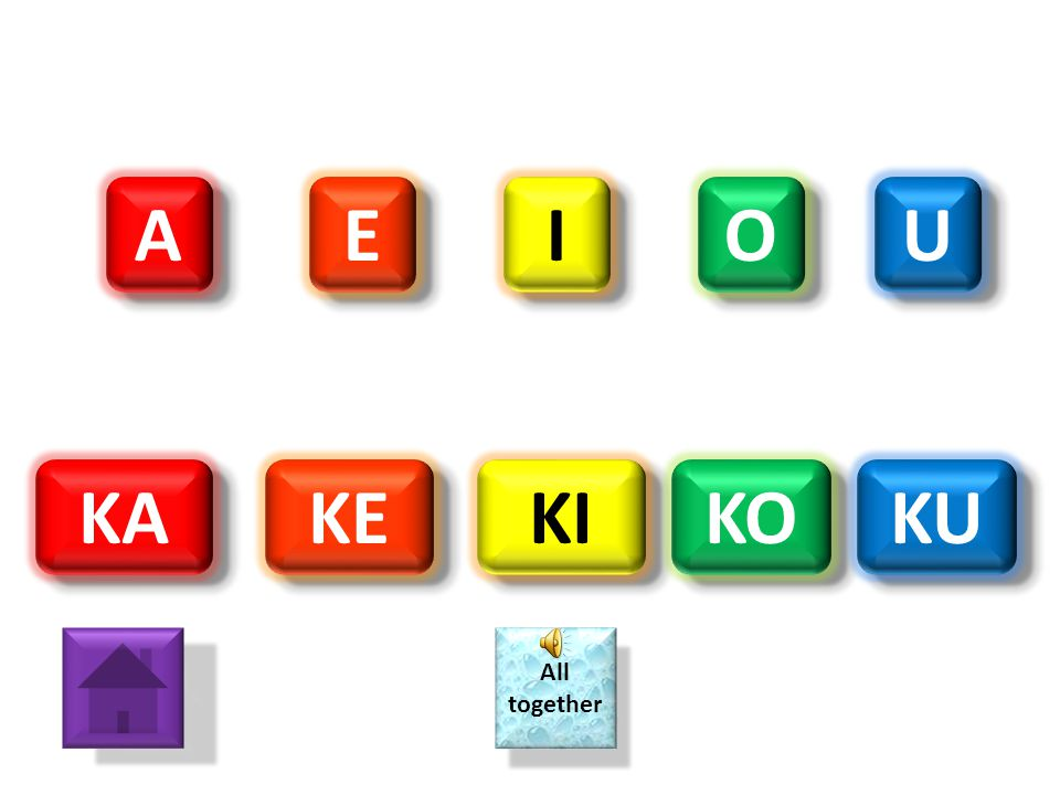 A E I O U KA KE KI KO KU All together