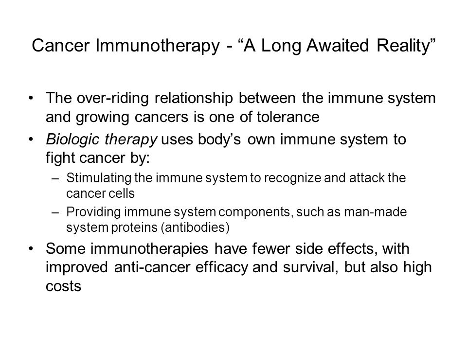 Cancer Immunotherapy - A Long Awaited Reality