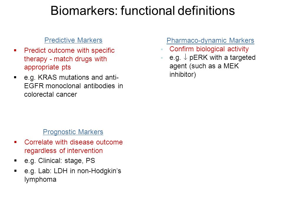 Biomarkers: functional definitions