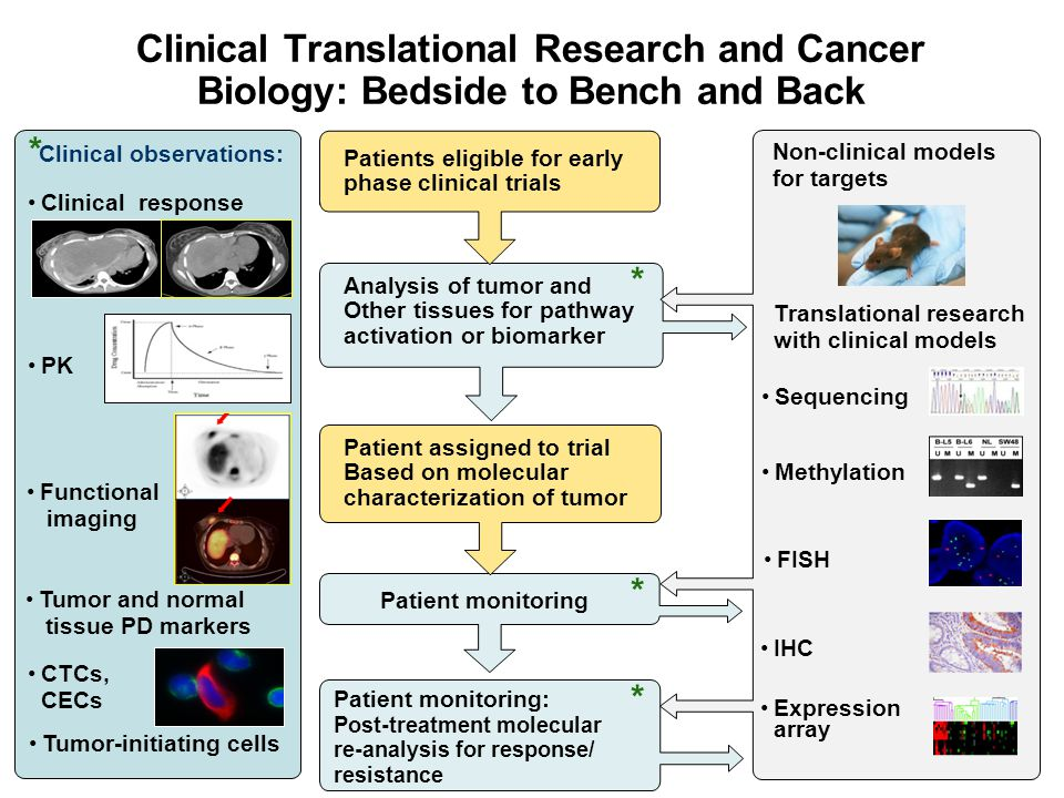 4/14/2017 Clinical Translational Research and Cancer Biology: Bedside to Bench and Back. *Clinical observations: