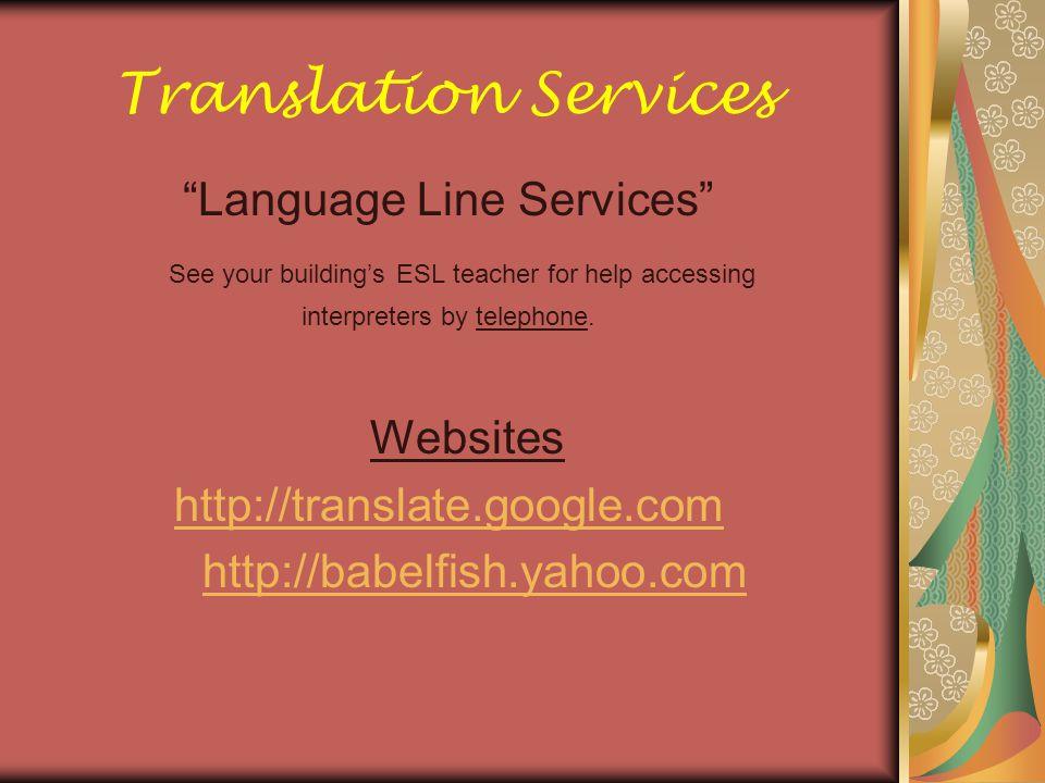 Translation Services Language Line Services