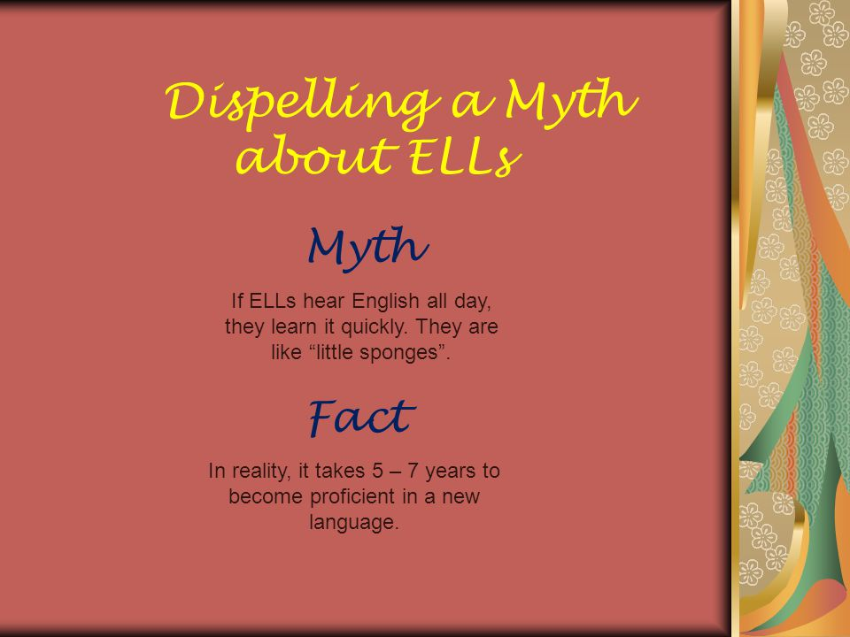Dispelling a Myth about ELLs