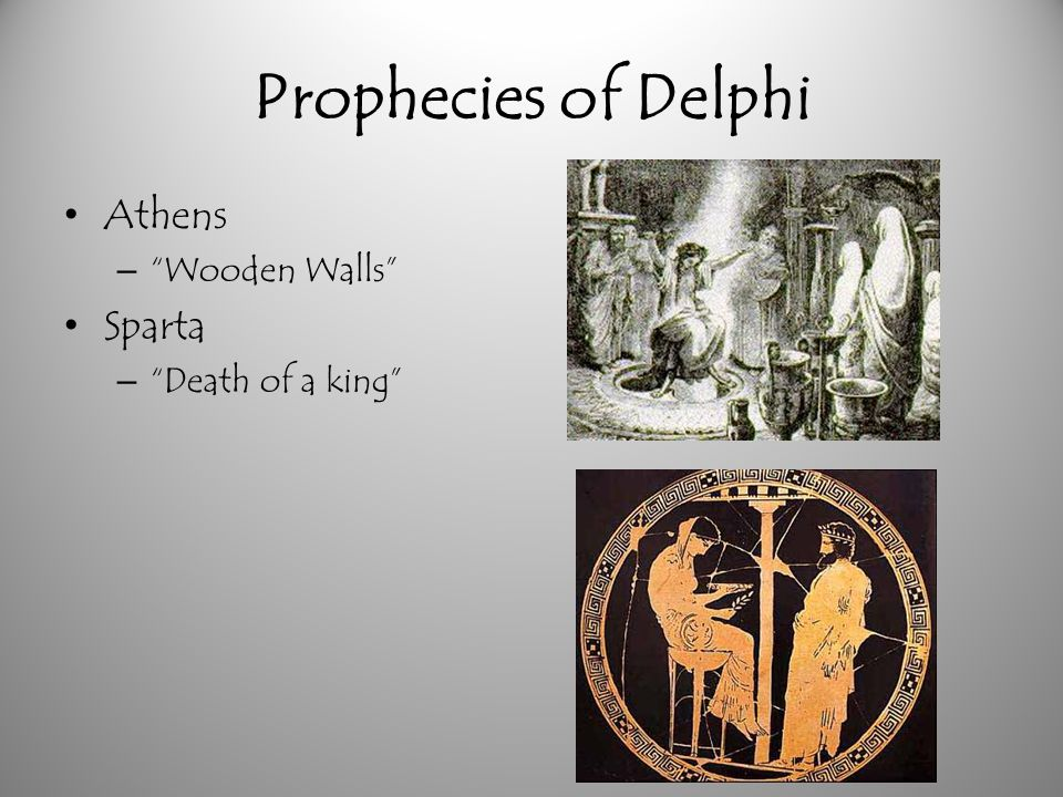 Prophecies of Delphi Athens Wooden Walls Sparta Death of a king