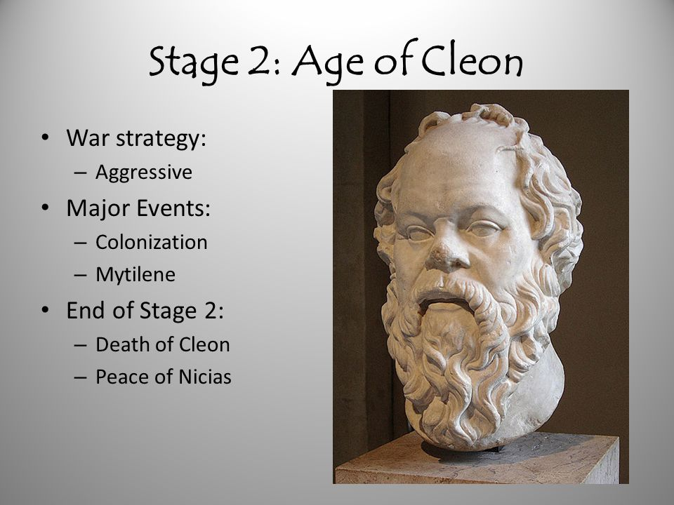 Stage 2: Age of Cleon War strategy: Major Events: End of Stage 2: