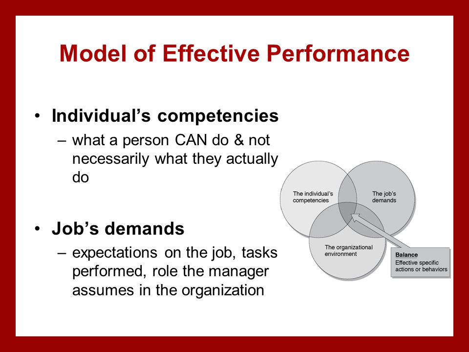 Model of Effective Performance