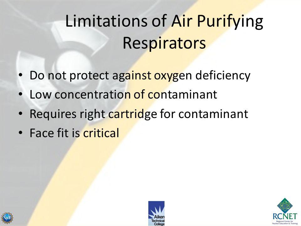 Limitations of Air Purifying Respirators