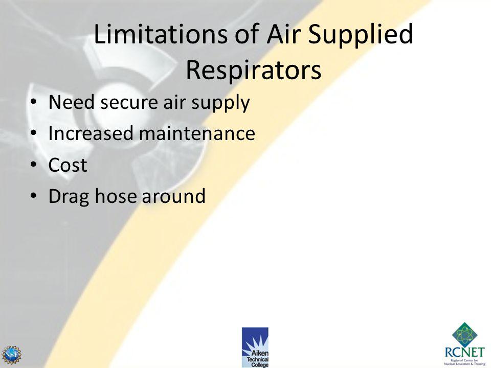 Limitations of Air Supplied Respirators
