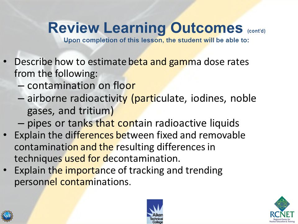 4/14/2017 Review Learning Outcomes (cont'd) Upon completion of this lesson, the student will be able to: