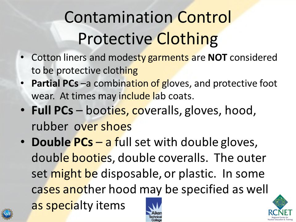 Contamination Control Protective Clothing