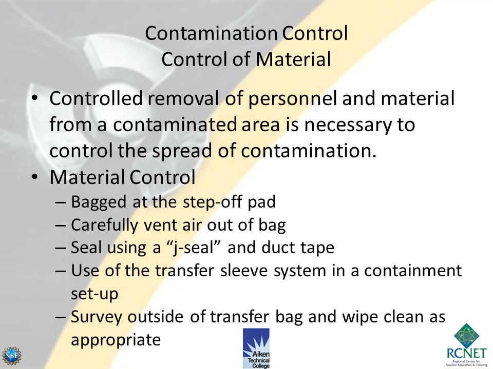 Contamination Control Control of Material