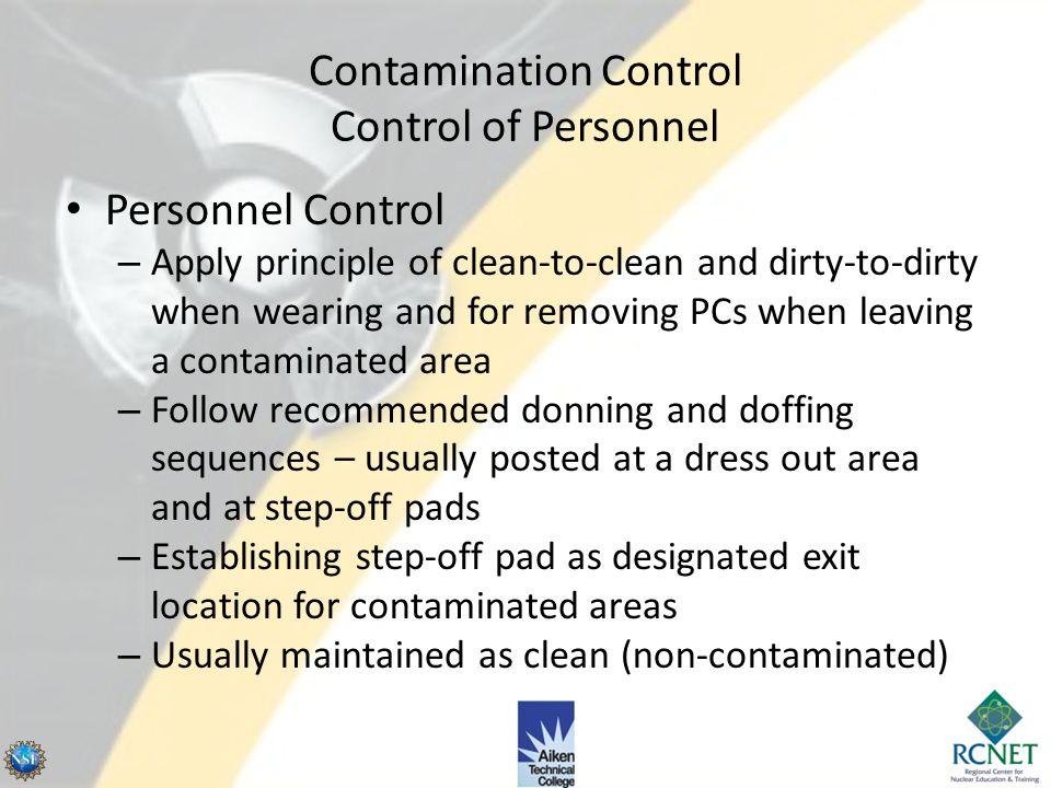 Contamination Control Control of Personnel