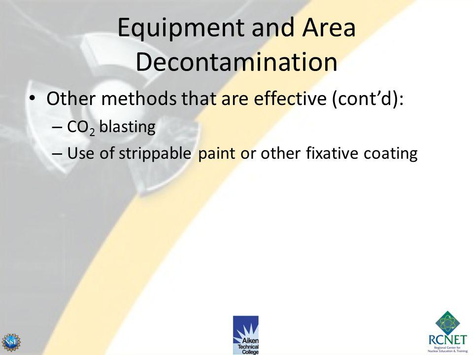 Equipment and Area Decontamination