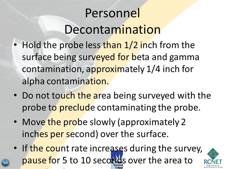 Personnel Decontamination