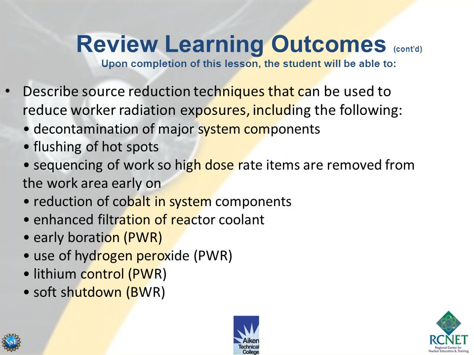 Review Learning Outcomes (cont'd) Upon completion of this lesson, the student will be able to: