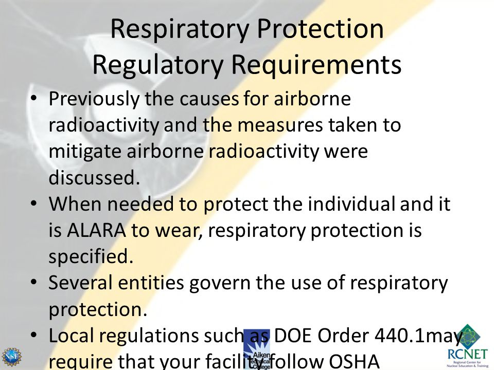 Respiratory Protection Regulatory Requirements
