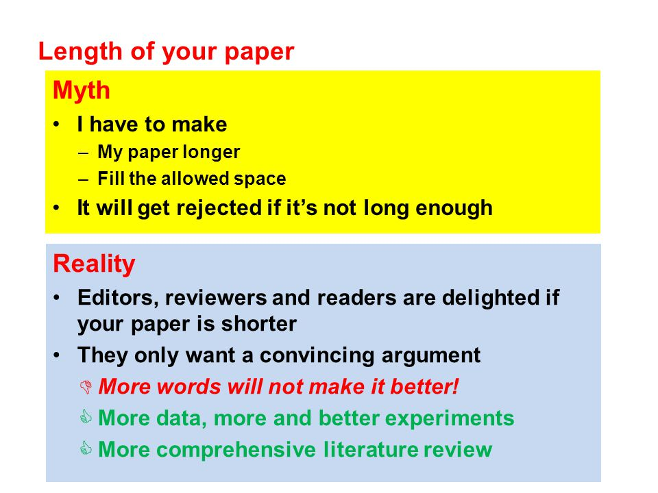 how to make your paper longer