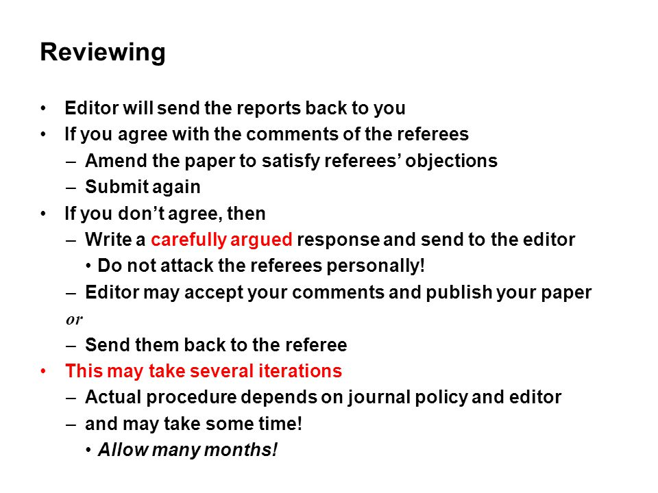 Reviewing Editor will send the reports back to you