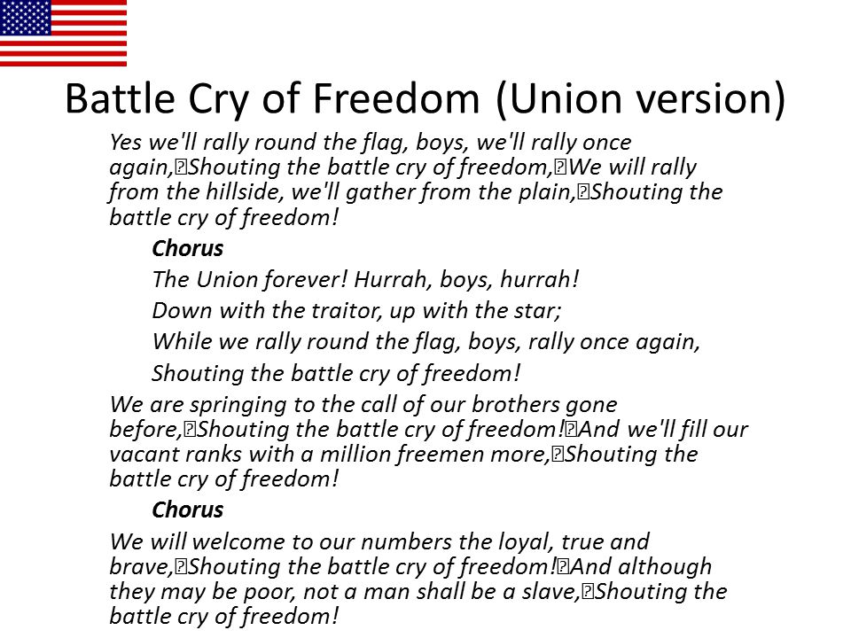 Battle Cry of Freedom (Union version)