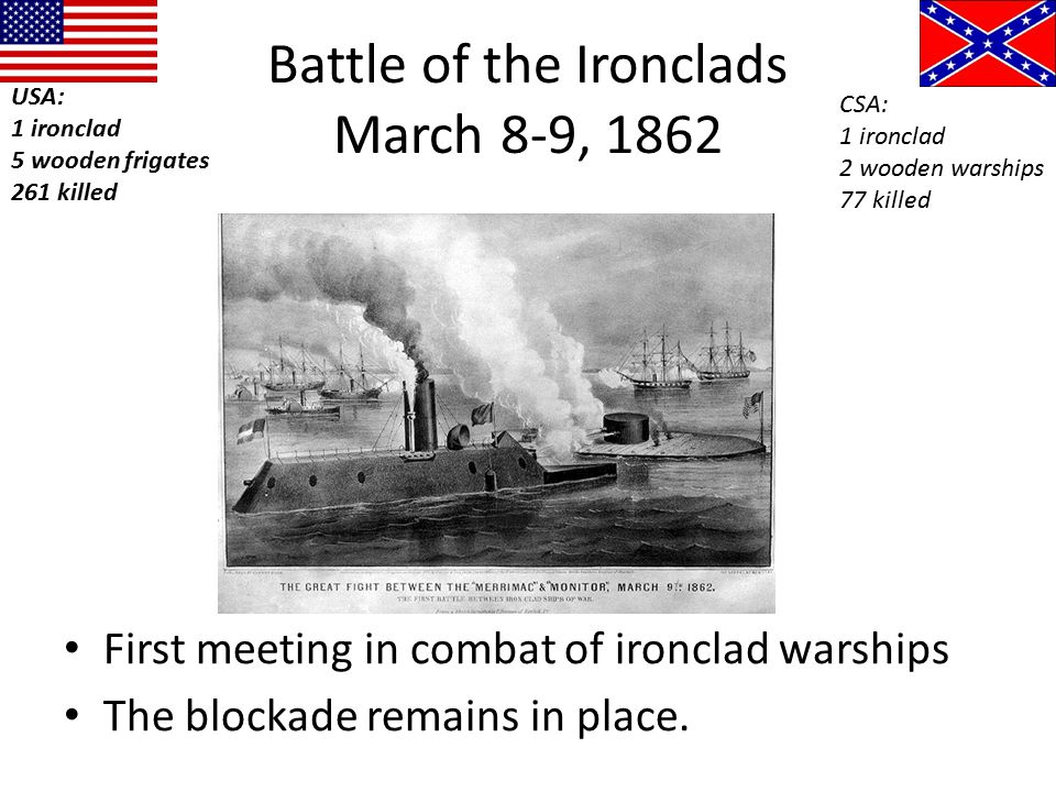 Battle of the Ironclads March 8-9, 1862