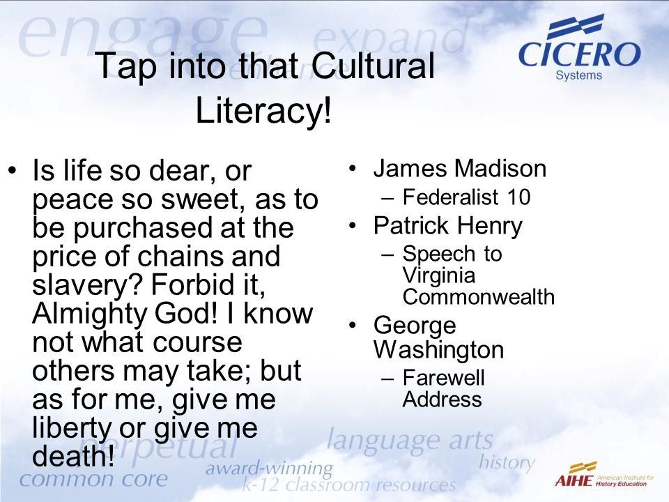 Tap into that Cultural Literacy!