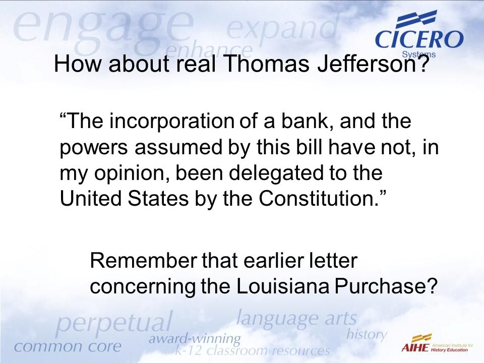 How about real Thomas Jefferson