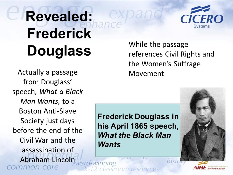 Revealed: Frederick Douglass