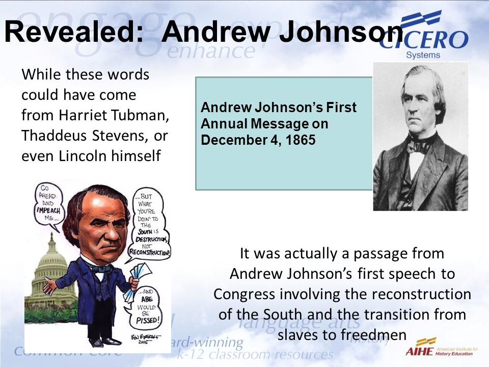 Revealed: Andrew Johnson
