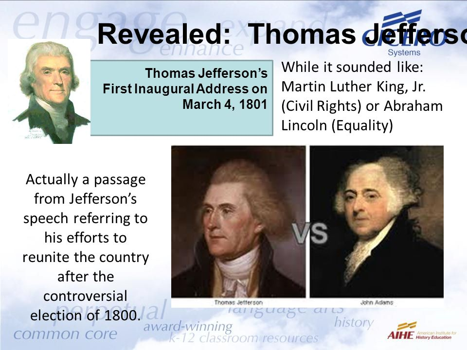 Revealed: Thomas Jefferson