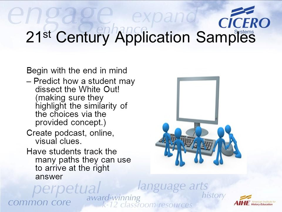 21st Century Application Samples
