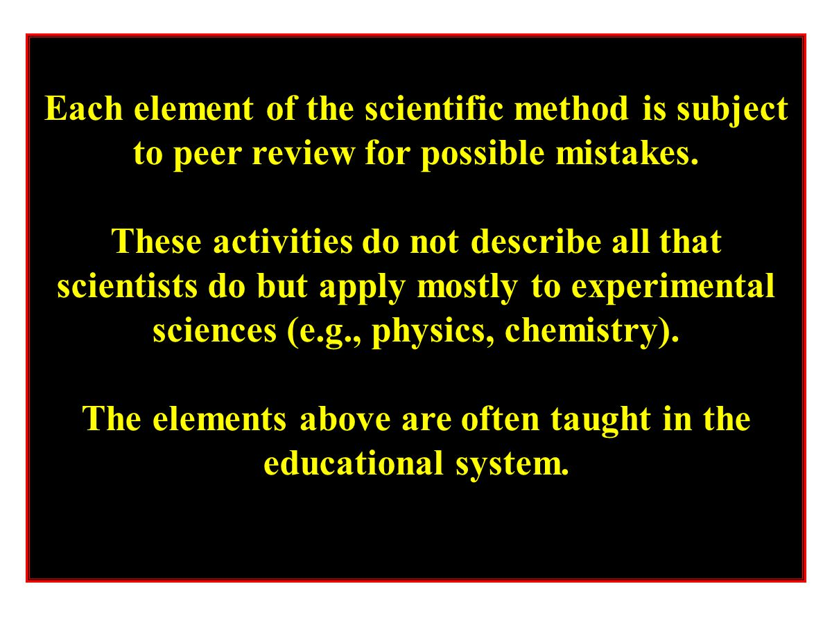 The elements above are often taught in the educational system.