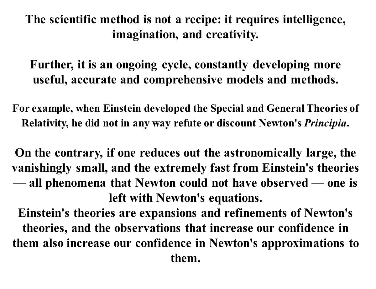 The scientific method is not a recipe: it requires intelligence, imagination, and creativity.
